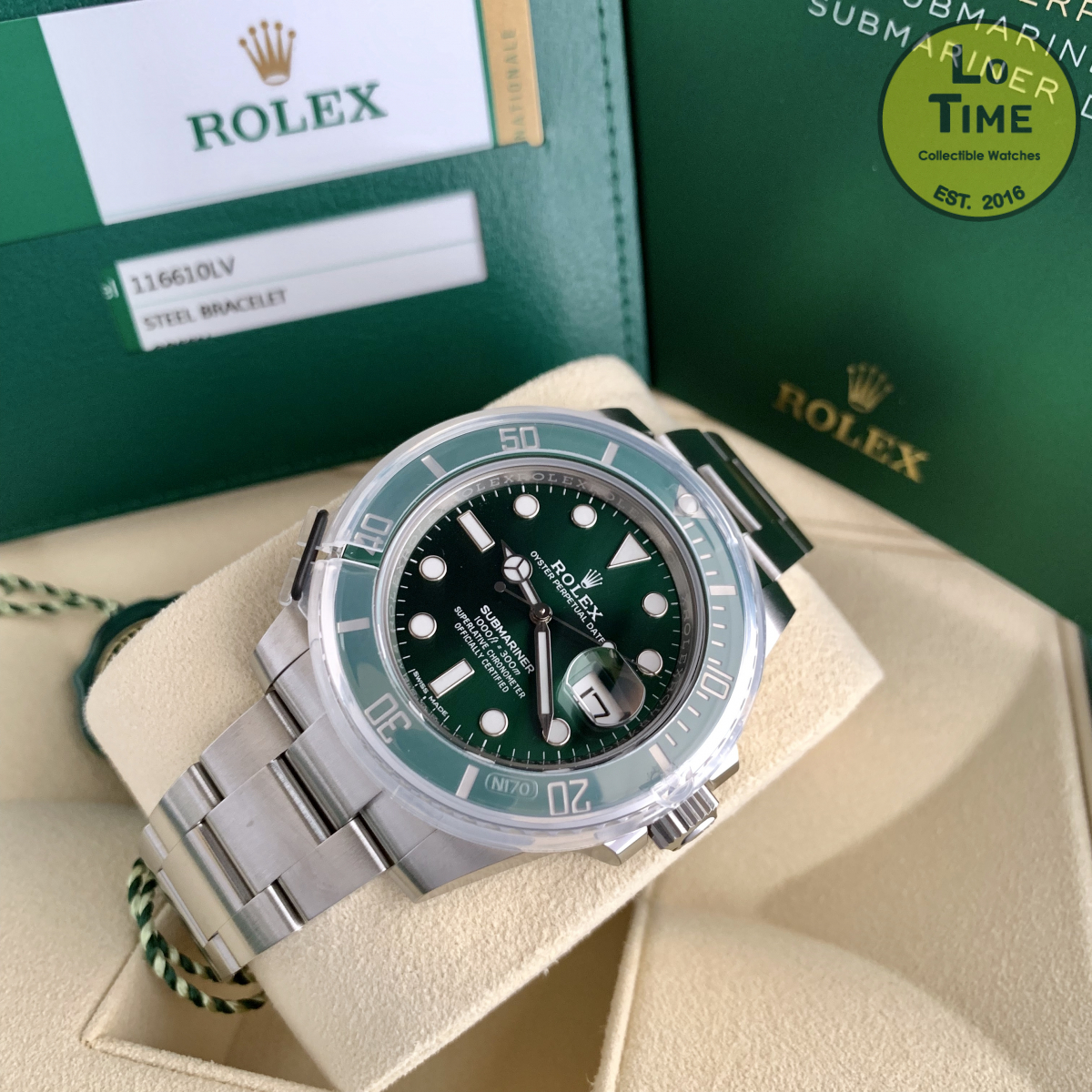 Rolex Submariner 116610LV NEW B/P