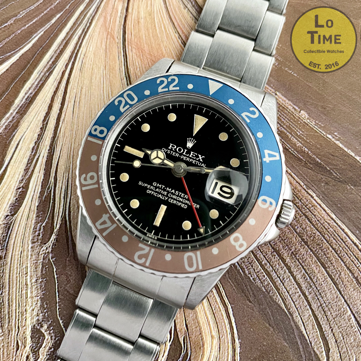 Rolex GMT-Master 1675 Gilt PCG chapter ring