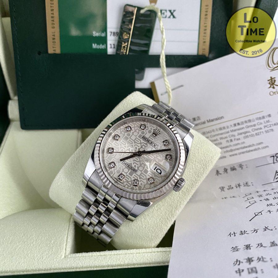 Rolex Datejust 116234 diamonds B/P