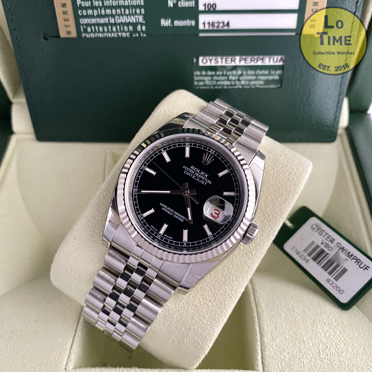 Rolex Datejust 116234 NOS B/P
