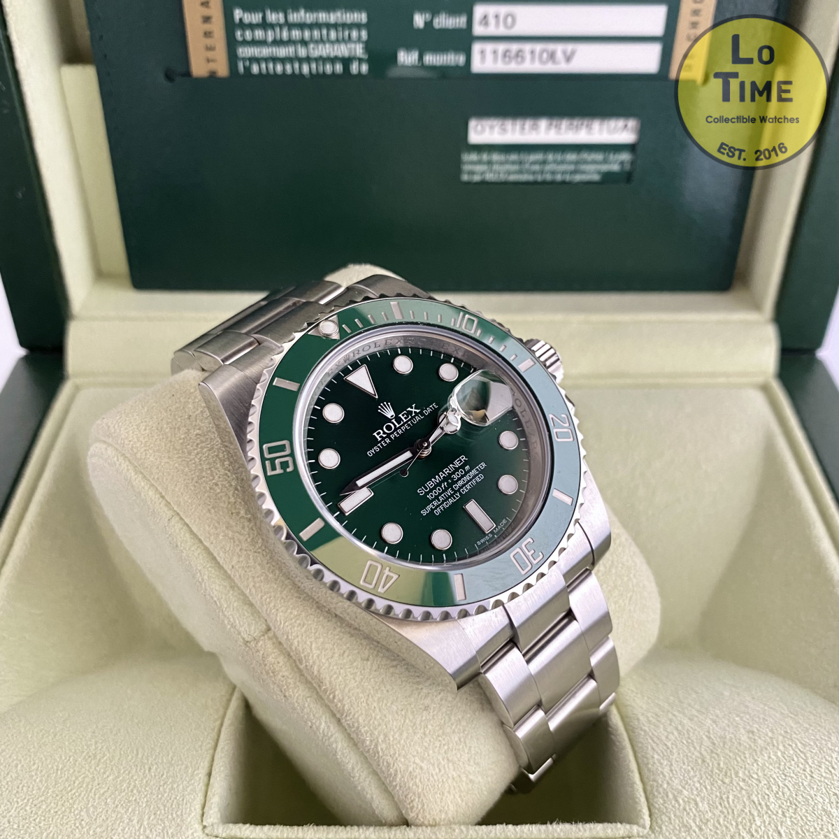 Rolex Submariner 116610LV B/P